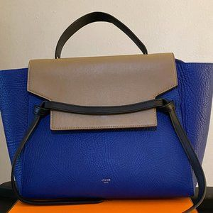 CELINE Calfskin Mini Bi-Color Belt Bag